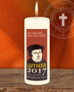 Kerze 200 x 70 mm Luther 2017 Reformation 500 Jahre